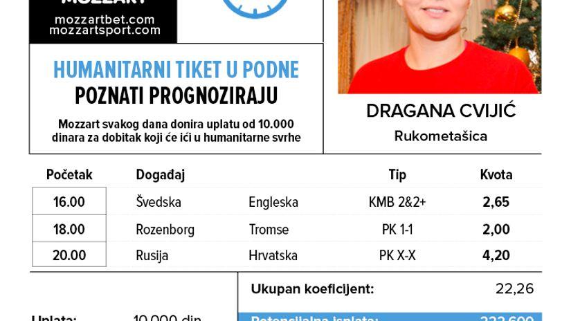 Humanitarni tiket u podne: Dragana Cvijić tipuje za Udruženje pacijenata s retkim tumorima