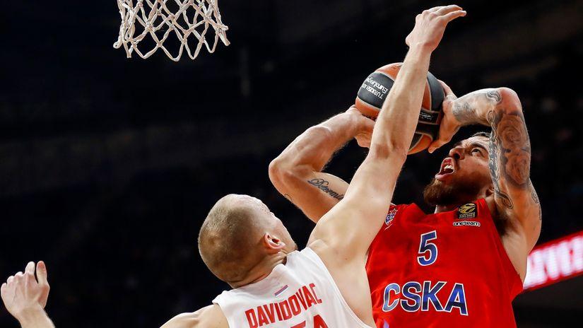 Partija karijere Davidovca uz 20 poena, dabl-dabl revitalizovanog Noka, Zvezda mučila CSKA