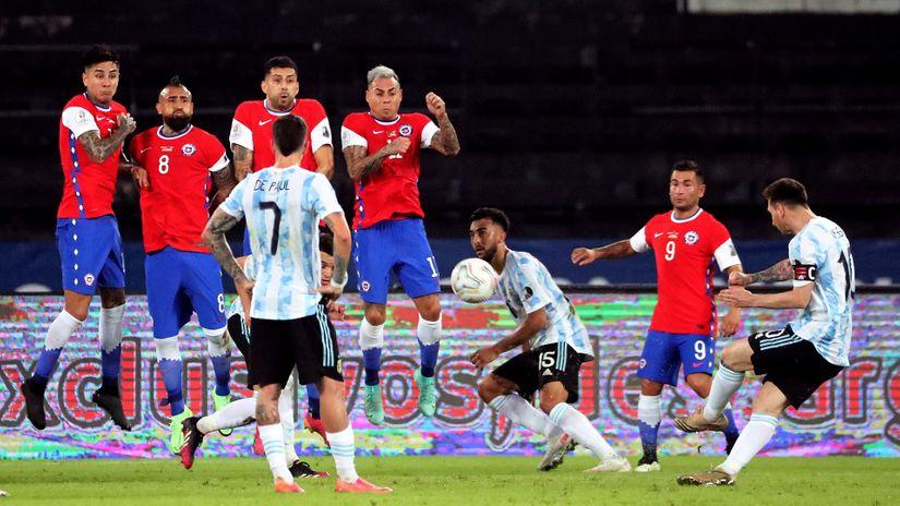 Mesijev slobodnjak za još jedan rekord, ali ne i pobedu: Gonzalez se ispromašivao, Čile odneo bod (VIDEO)