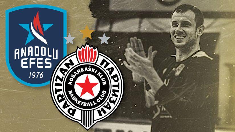 Od sutra prodaja karata za duel Partizan - Anadolu Efes: Novica Veličković – još jedan meč