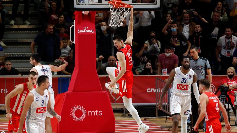 Luka Mitrović protiv Budućnosti (©Star Sport)