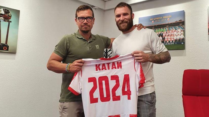 Aleksandar Katai sa menadžerom Bojanom Ostojićem