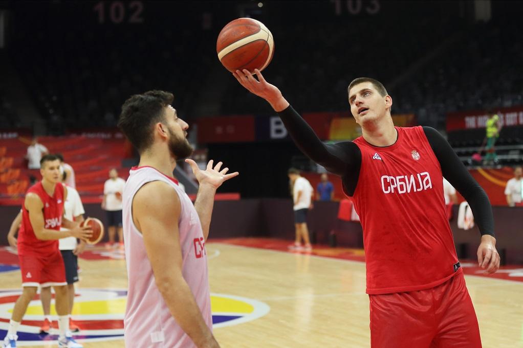 Micić i Jokić na jednom od treninga reprezentacije, Foto: MN press