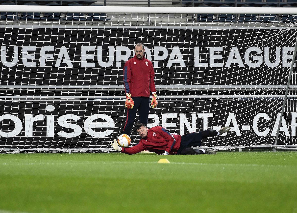 Zoran Popović i Milan Borjan na treningu (©Starsport)