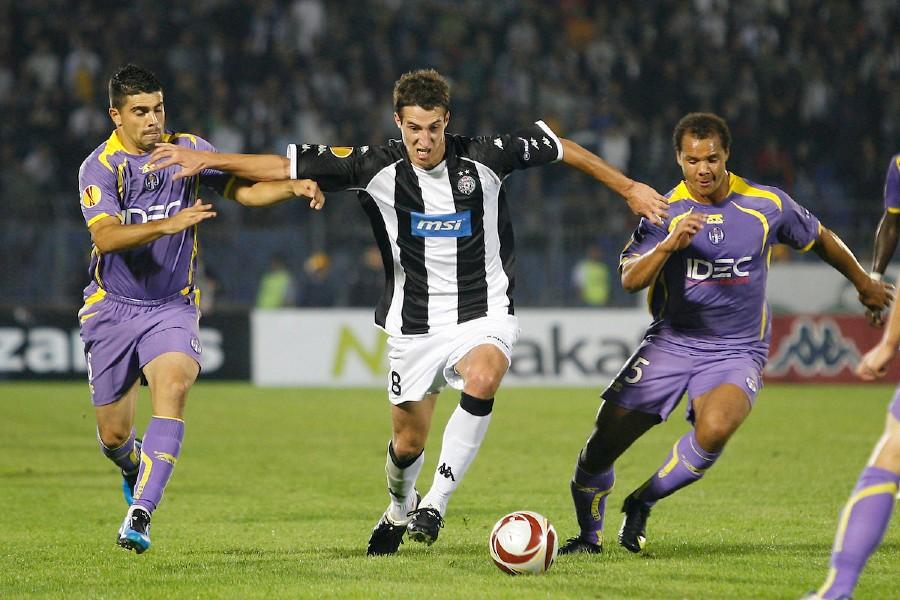 Radosav Petrović na meču Lige Evrope sa Tuluzom (© Star sport)