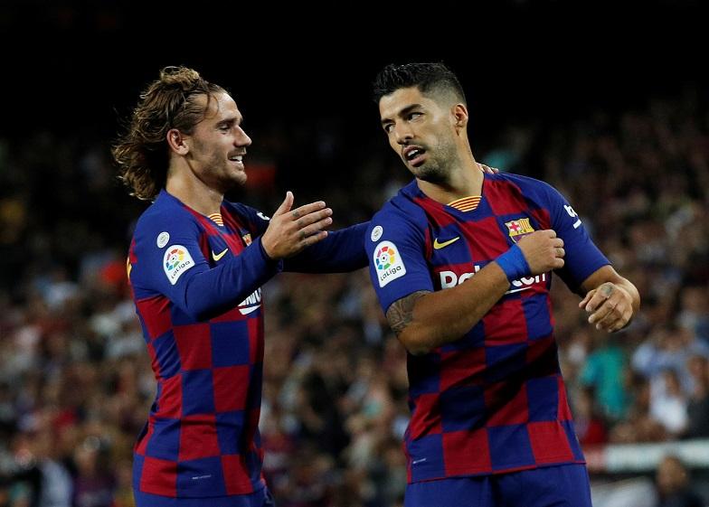 Grizman i Suarez iz perioda u Barseloni, Foto: Reuters