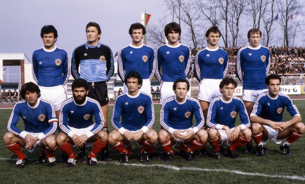 Jugoslavija - Bugarska: Bjeković, Pantelić, Hristić, Buljan, Krmpotić, Zajec, Popivoda, Slišković, Halilhodžić, Šljivo, Pašić, Stojković