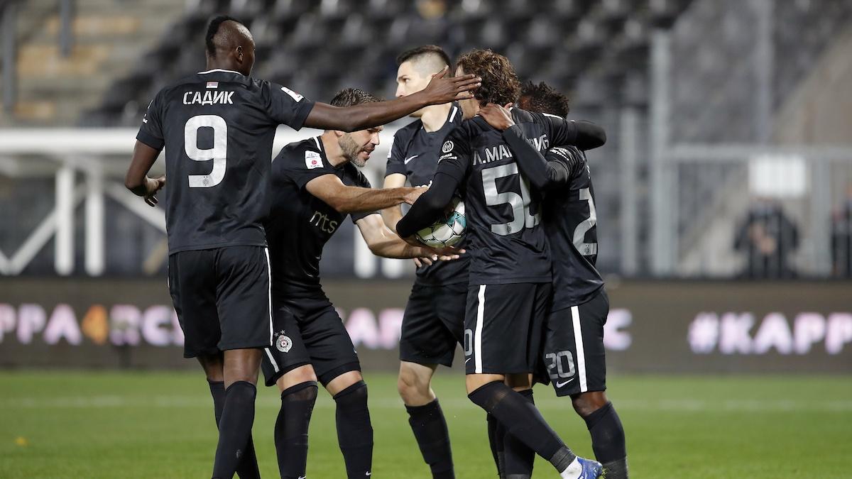 Fudbaleri Partizana protiv Šarlroe (© Star sport)